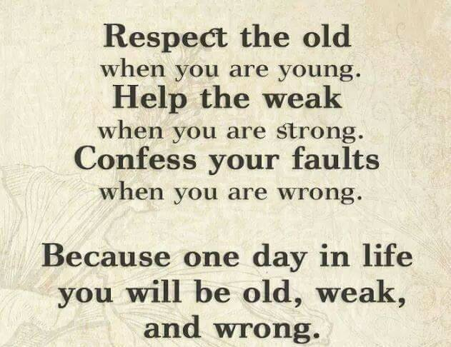 Respect the Old