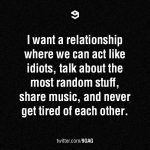I want to be in a relationship where..