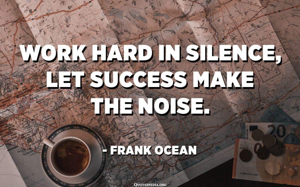 success makes noise