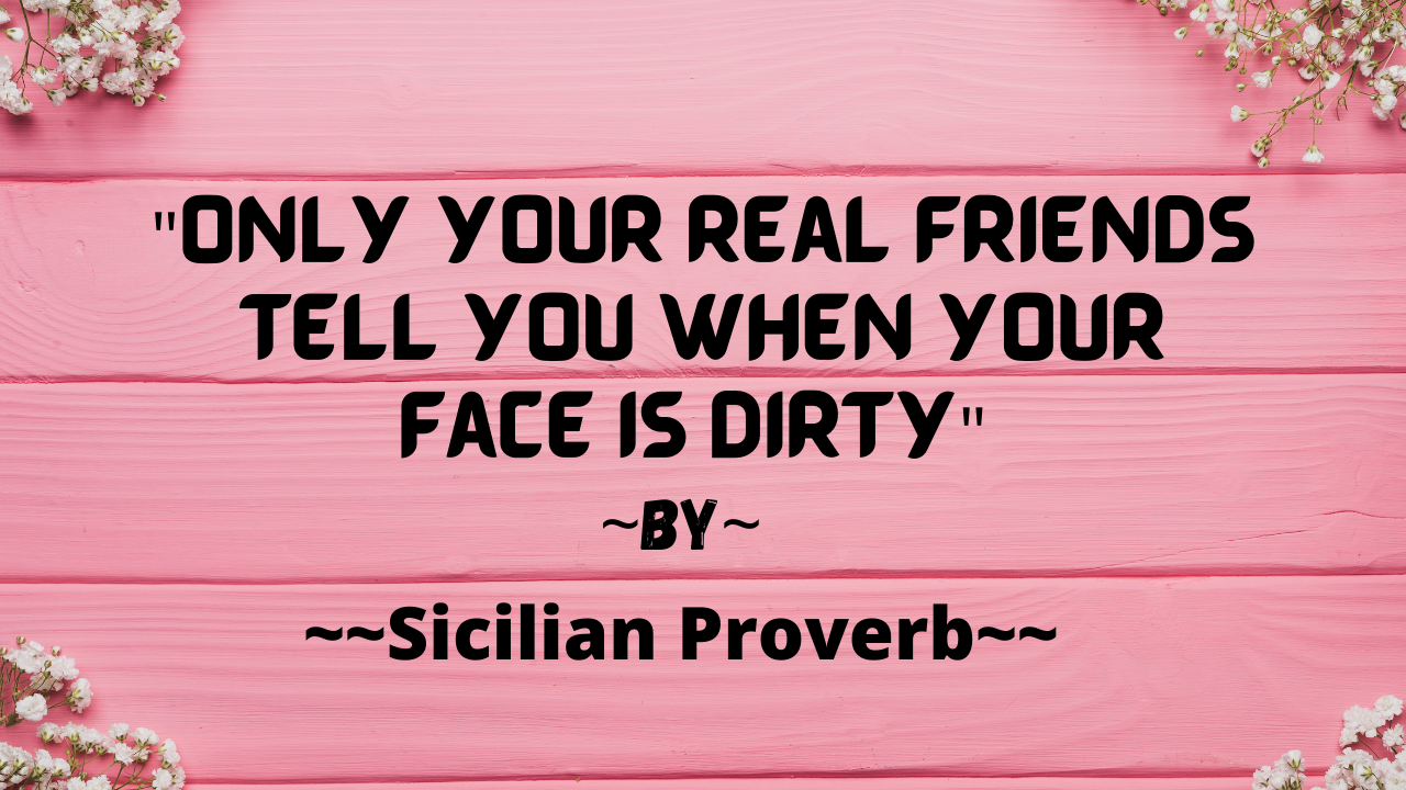 You are currently viewing Real Friends tell you that your face is dirty.