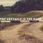 Read more about the article The Obstacle is the path.